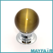 Simple Round Glass Furniture Knob
