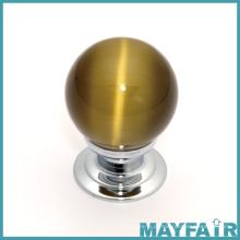Botão de mobiliário simples de vidro redondo