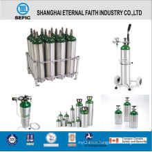 Portable Medical Aluminum Oxygen Gas Cylinder