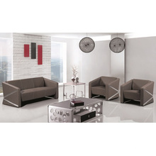Contemporáneo grande cuero deshuesado tapizado conjunto de sofás