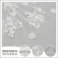 Telas bordadas poliéster hecho punto de alta calidad de la gasa de China para los vestidos de boda