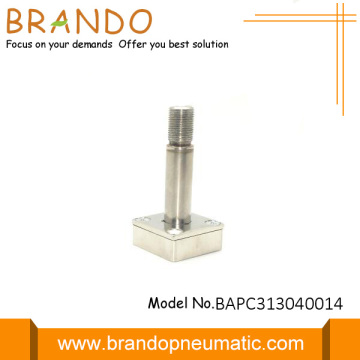 Normally closed solenoid stem for environmental protection