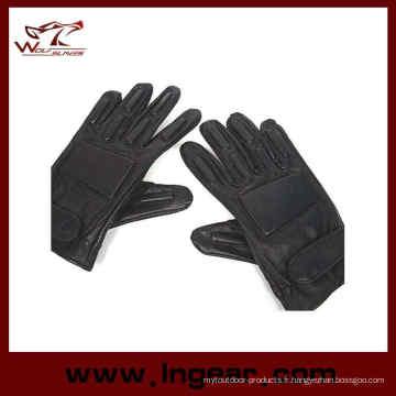 Gants de Combat cuir souple plein doigt Airsoft de Swat