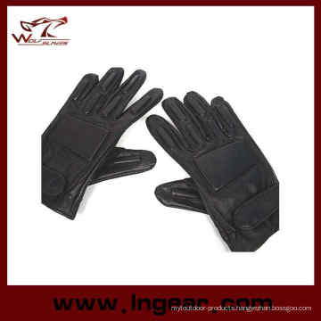 Swat Full Finger Airsoft Supple Leather Combat Gloves