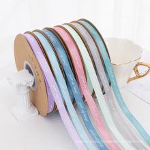 Low MOQ Wholesale Custom Double Face Satin Ribbon Printed Satin Ribbon With Logo