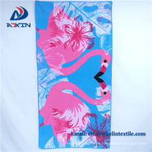 Factory customize printed microfiber double sided beach towel
