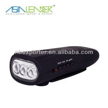 Multifunction Dynamo LED Flashlight with Radio