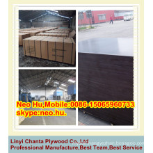 LINYI best quality phenolic resin brown film shuttering plywood