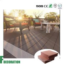 Revestimiento exterior impermeable de plástico WPC compuesto de madera reciclada
