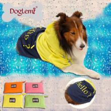 Cão de chuva reflexivo portátil capa de chuva Cão de nylon impermeável Pet capa de chuva
