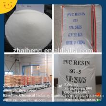 China fabricante de resina de PVC SG-5