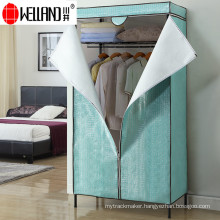 Modern Furniture Design DIY Corner Bedroom/Living Room Wardrobe with Non-Woven Cover