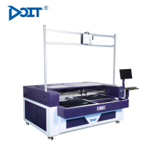 DT1610-P Auto dupla alternativo-plataforma hollwed-out gravura a laser vamp & máquina de corte
