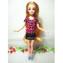 Customized 3D Princess Doll Blond Hair Plastic Kids Christmas Toy