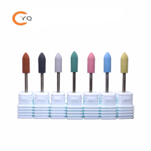 Russian Manicure Colorful Nail Silicone Polishers Fine Buffing Nail Drill Bits