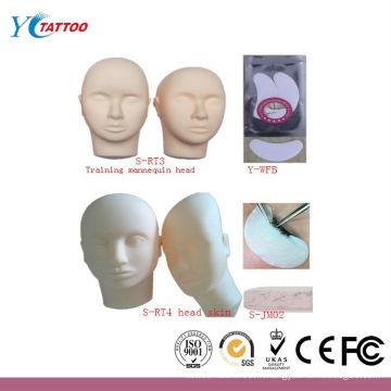 Tatouage fausse peau Tête pour la pratique Extensions de cils