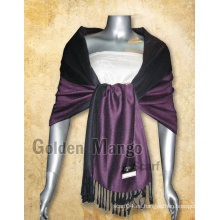 Doble cara de lana de color sólido pashmina Shawls