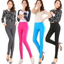 Moda feminina cor algodão skinny legging (sr8209)
