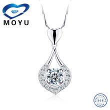Única jóia 2015 novos produtos micro pavimentar configuração 925 prata esterlina jóias zircão pingente para as mulheres
