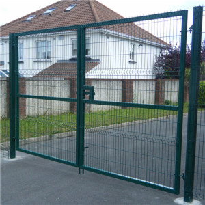 Powder Coating Welded Wire Double Fence Gate