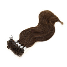 Customized Color High Quality Double Drawn Knot Thread Hair Extensions Human Virgin Tape in Hair