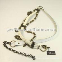 Cinturón de cuero antiguo Brozen Metal