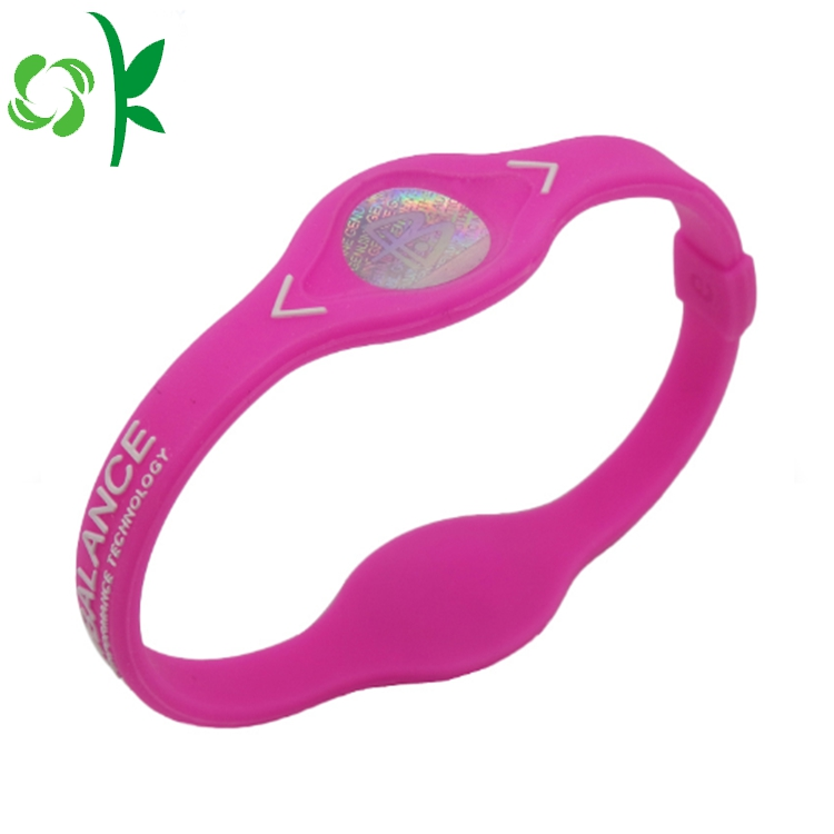 Deep Pink Germanium Fitness Bracelets