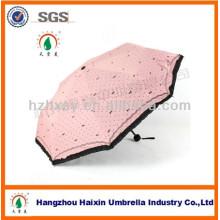 3 Pliez parapluie cadeaux de Fashion Girl promotionnels pour les femmes