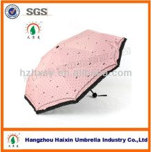 3 fold Fashion Girl's Umbrella Promotional Gifts for Women