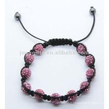 2012 Joya cristal pavé ballon perles bracelet cadeaux