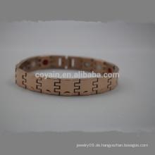 Billig Edelstahl Rose Gold Kette Link Armband