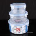 Caja de alimento plástica 3PCS fijada