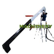 Pequeña grúa rígida marina del cargo del uso de la cubierta del yate del auge del 1T6M con luffing hidráulico