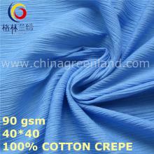 100% tecido de crepe de algodão para roupas têxteis (GLLML426)