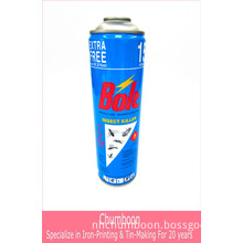 Insecticide Spray Aerosol Tin Can with 4 Color Printing