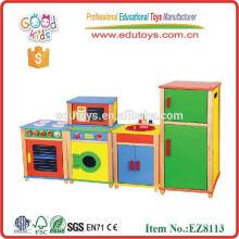 Brinquedos mais populares brinquedos de móveis de móveis de madeira 2014 com conjunto de brinquedos de cozinha de porcelana de madeira