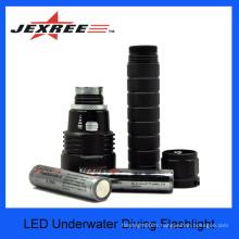 JEXREE L'équipement professionnel de plongée sous-marine a conduit la lumière de plongée, les torches de plongée menées
