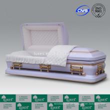 Caixão 18GA LUXES americano personalizado Metal caixão