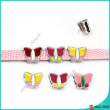8 мм Бабочка слайд прелести для девушки Браслет charms (SC16040960)
