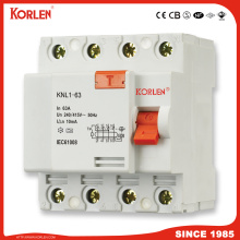 Residual Current Circuit Breaker RCCB Knl1-63 4P 63A 30MA 300MA