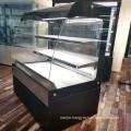 Bakery open style Curved Glass Cake Refrigerator Showcase