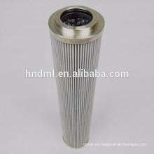 Separación tecnologías filtro de aceite hidráulico elemento H110D10V, cartucho de filtro de acero inoxidable
