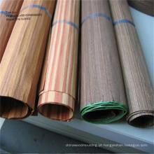 Fachada de madeira decorativa de folheado de madeira EV