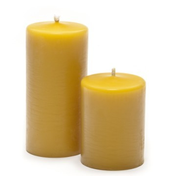 100% natural Beeswax pillar Candles