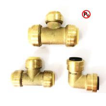 Lead Free Brass Push Fit Pipe Fitting