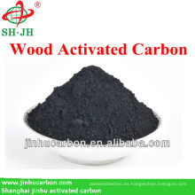 Carbón activado a base de madera de alto grado