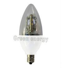 C35 a mené la lumière de bougie dimmable d'ampoule