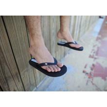 mens white flip flops
