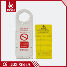 OEM quality 3 years warranty Scaffold Tag with LOGO supports, scaffolding tag BD-P33