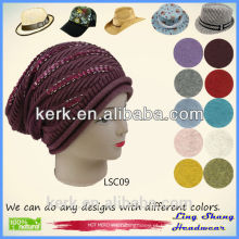 LSC09 Ningbo Lingshang Moda design 100% algodão snapback chapéus